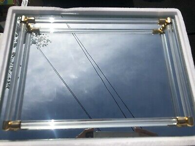 Avon Vintage Mirrored Glass Vanity Tray Perfume / Jewelry Tray
