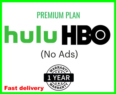 Hulu HBO No Ads No Commercials Shared account 1 year Subscription 30sec Delivery