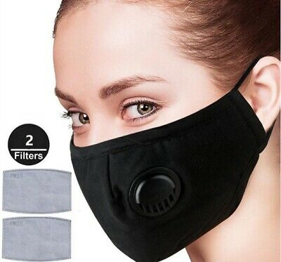 Face Mask with Filter N breathing valve, Reusable, Adjustable, 100 % Washable