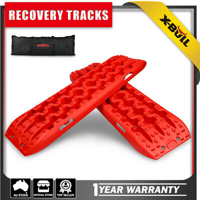 X-BULL Recovery tracks 10T Sand tracks Mud Snow Grass NEW 4X4 4WD 1Pair Red