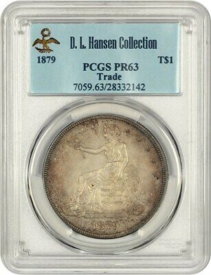 1879 Trade$ PCGS PR 63 ex: D.L. Hansen - Desirable Proof Trade Dollar
