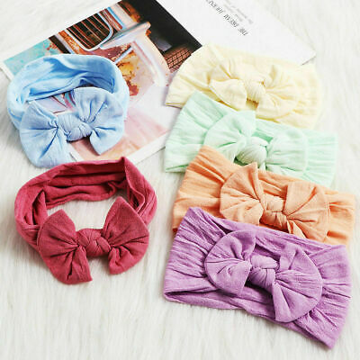 Toddler Baby Girl Headband Ribbon Elastic Headdress Kids Hair Band Newborn Bow