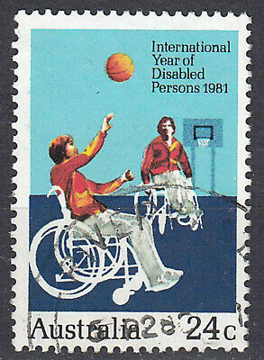 Australien Briefmarke gestempelt 24c Int. Year of disablerd Persons 1981 / 315