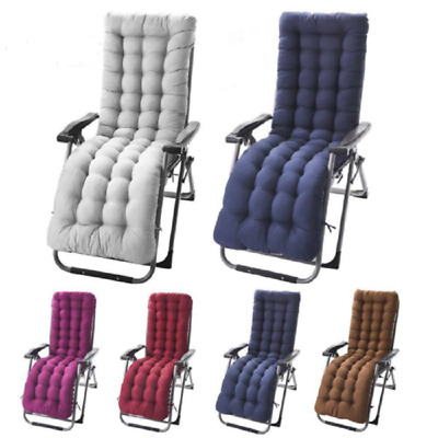 Soft Cotton Seat Pad Replacement Cushion Pad Garden Sun Lounger Recliner Chair