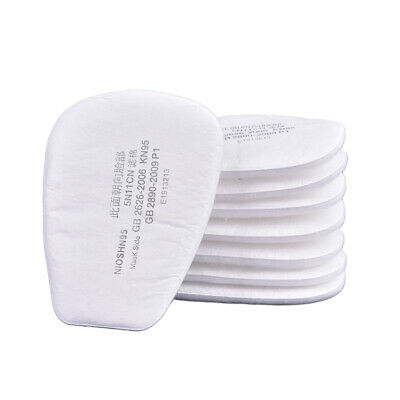 10pcs 5N11 Cotton Filter Safety Protect Replacement for 6200 7502 Respirator FF