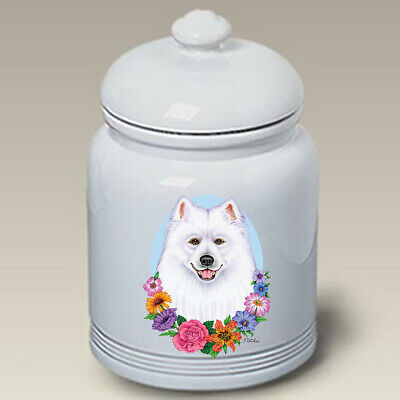 Samoyed Ceramic Treat Jar TP 47077