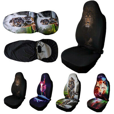 Single Universal Car Seat Covers Front Row Set Animal Printed Protector Cover