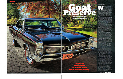 1967 Pontiac Gto 400/335 Hp Unrestored ~ Great 4-Page Article / Ad