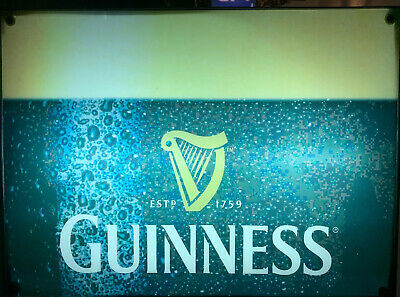 Guinness Beer Advertising Sign Electric Lights Up