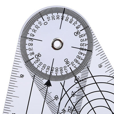 Professional 360Degree Measure Tool Stationery Plastic Medical Spinal Ruler ON3