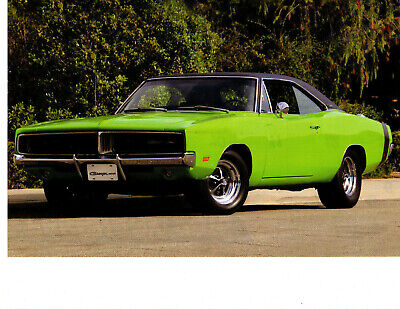 1969 Dodge Charger R/T ~ Nice Calendar Picture / Photo / Ad