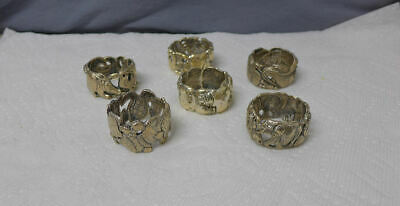 Rare Africa Patrick Mavros Napkin Ring Sterling Silver Sculpture Elephants +more