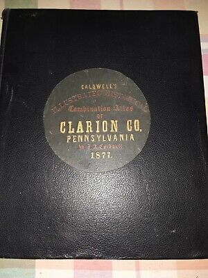 F. W. Beers Atlas Of Clarion County PA