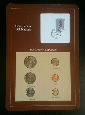 Coin Sets of All Nations Dominican 1984 UNC 1 Peso & Centavos All 1984