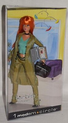 Modern Circle Barbie Producer Brand New Orange Hair