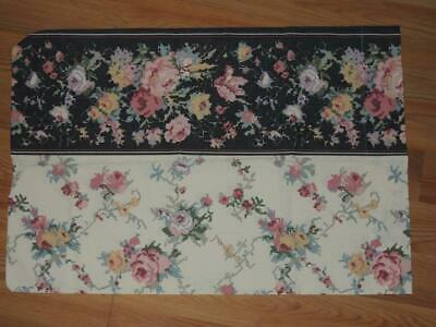 ISABELLA STANDARD PILLOWCASE SET 2 PC SET 21x30 RED TEAL FLORAL CREAM BACKGROUND
