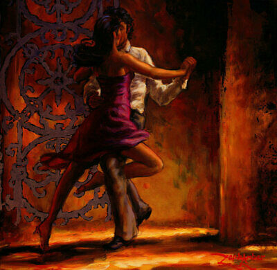 Modern Hand-Painted Figures Girl Dancing Oil Painting Abstract Repro Canvas Deco