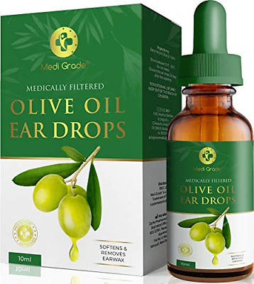 Olive Oil Ear Wax Remover Drops � 100% Pure Earwax Removal Olive Oil, 10ml � and