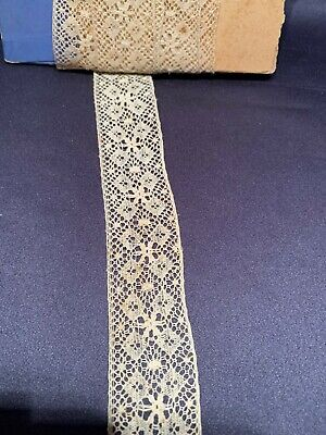 Antique Maltese Lace Trim Edging Good for Dolls Insert 1""