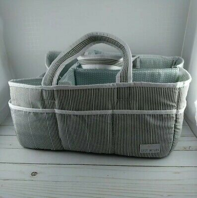 Lily Miles Baby Diaper Caddy - Preowned - Green/Mint Interior color