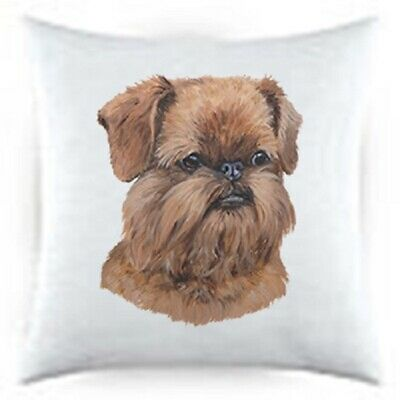 Uncropped Brussels Griffon Satin Throw Pillow LP 44194