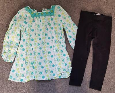 Lovely 2 Piece Outfit, Long Sleeve Cotton Top & Leggings, 3-4 Years