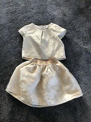 Girls TU Skirt/Top Matching 2 piece Party Outfit Size Age 4