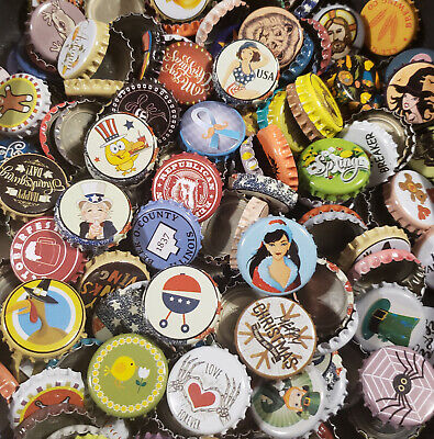 500 Beer Bottle Caps (150+ Designs Used NO DEFECTS)