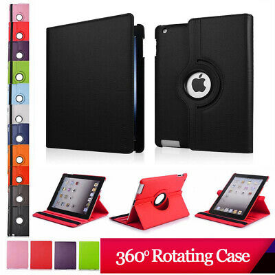 360 Rotating Leather Smart Stand Case Cover For Apple iPad 2/3/4 AIR MINI 17/18
