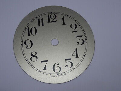 Vintage Silver Metal Clock Dial. made in England