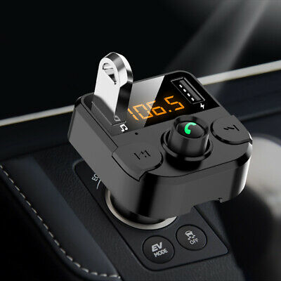 Wireless Bluetooth LCD Handsfree FM USB Car Transmitter MP3 Player Charger Kit