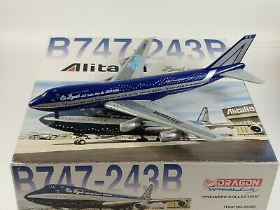 Alitalia Baci Livery Boeing 747-200 Aircraft Model 1:400 Scale Dragon Wings RARE