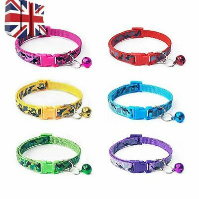 Army CAMOUFLAGE Style Kitten Small Cat Pet Collar & Buckle & Warning Bell