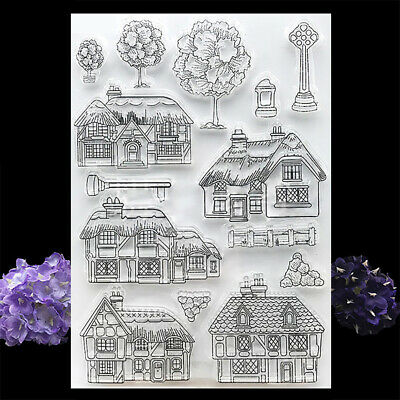 House Clear Transparent Silicone Stamps Scrapbooking Album Handmade Paper Craft