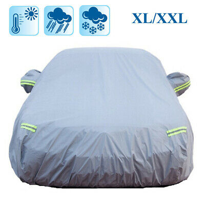 UK Breathable Full Car Cover Rain Sun UV Protection Dustproof Waterproof Size XL