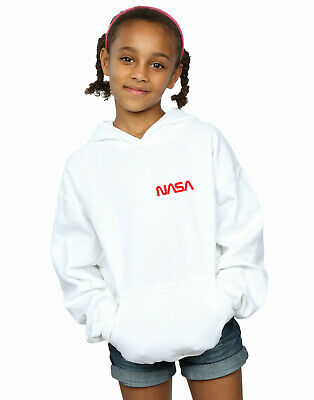 NASA Girls Modern Logo Chest Hoodie