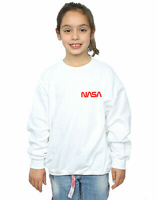 NASA Girls Modern Logo Chest Sweatshirt