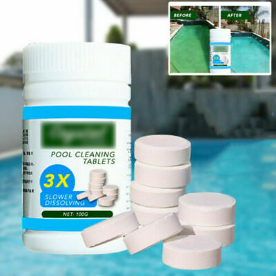 100PC Multifunctional White Chlorine Tablets For Hot Tub Swimming Pool Spa Clean