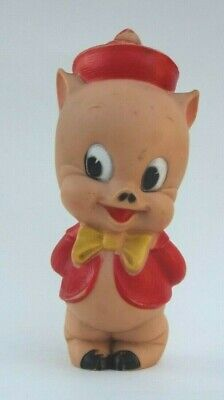 Porky Pig Squeeze Toy 1950's Sun Rubber Warner Bros Vintage Near Mint