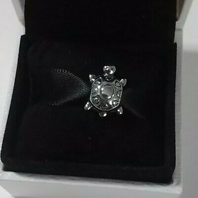 Authentic 925 Pandora TURTLE Charm Sterling Silver #79015
