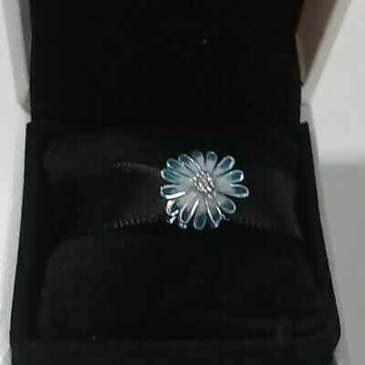Authentic 925 Pandora Blue DAISY Charm Sterling Silver #798775C01
