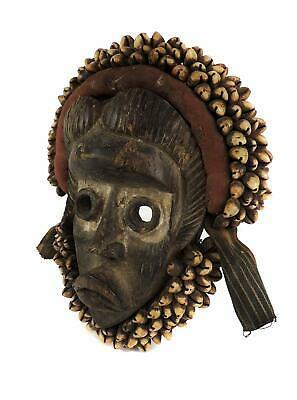 Dan Mask Deangle Cowrie Shells Liberia African Art