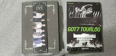 [GOT7] Mini Album / DYE (Not By The Moon) Ver. 1 & Tour log (No Photocard etc.)