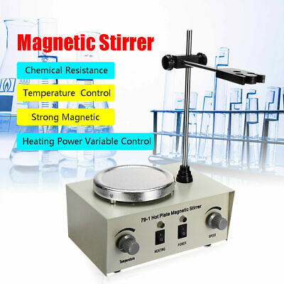220V Magnetic Plates Stirrer Lab Heating Dual Control Mixers Newest 1000ml 250W