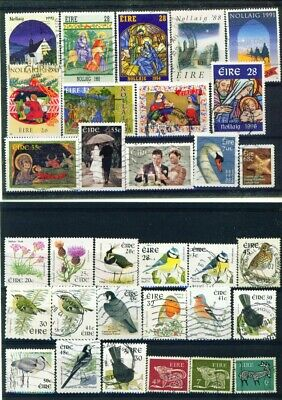 IRELAND - Collection of 100 Different Postage Stamps (all scanned) Off Paper