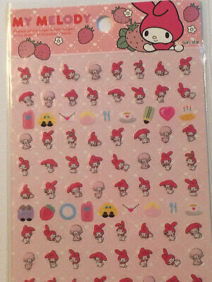 My Melody Sanrio Stickers Japan Import 1 Sheet Mini Stickers Cute Decoration New