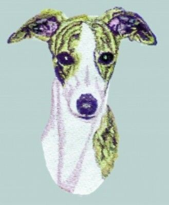 Large Embroidered Zippered Tote - Whippet BT3413