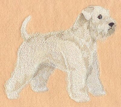 Large Embroidered Zippered Tote - Wheaten Terrier C9628