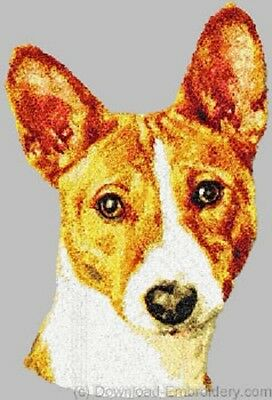 Large Embroidered Zippered Tote - Basenji DLE1474