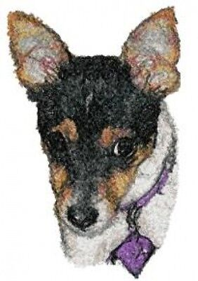 Large Embroidered Zippered Tote - Rat Terrier AED16220